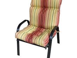 High Back Patio Chair Cushion Pastel Striped Wicker High Back Patio Chair Cushion High Back