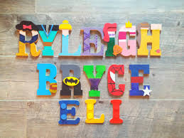 Kids Room Letters by Handpainted Wall Letters Best Selling Kids Room Decor Marvel
