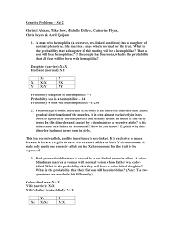 Girls Color Blind Genetics Problems U2013 Set 2 Chris Reyes U0026 April Quijano