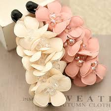 hair accessories for women high quality summer handband chiffon flower with banana