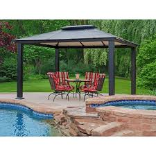 Diy Outdoor Gazebo Canopy by Outdoor Gazebo With Hard Roof Popular Roof 2017