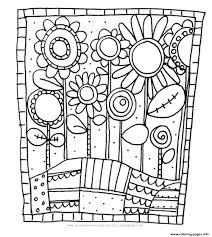 simple flowers coloring pages printable flower plants sheets