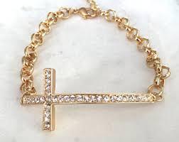 bracelet with cross images Cross bracelet etsy jpg