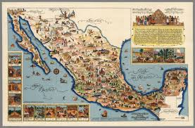 Maps Of Mexico by Pictorial Map Of Mexico Published By Fischgrund Publishing Co