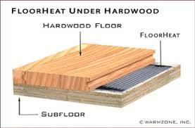 floor wooden floor heating on floor in radiant heat