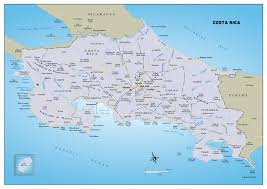 Map Costa Rica Large Political And Administrative Map Of Costa Rica With Roads