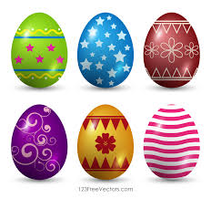 painted easter eggs decorated easter eggs vector 123freevectors