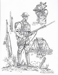 army clipart world war 1 soldier pencil and in color army