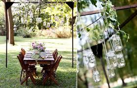 Backyard Wedding Decorations Ideas Suspended Mason Jars Make A Gorgeous Chandelier Like Decoration
