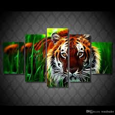 Cheap Home Decor Online Store Hd Printed Tiger Jungle Painting Canvas Print Room Decor Print