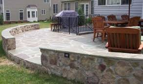Irregular Stone Patio Flagstone Patios U0026 Walkways American Exteriors U0026 Masonry