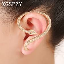 s ear cuffs xgspzy snake ear cuff s shaped zinc alloy earcuffs unique