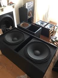 professional home theater system 2x double 15