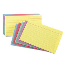 rainbow pack index card office products