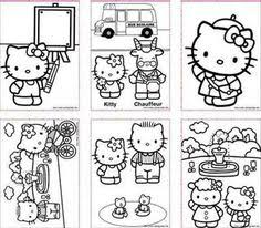 kitty birthday coloring pages newsletter templates