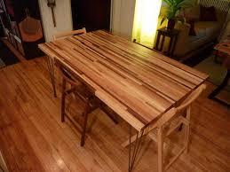 Simple Yet Unique Butcher Block Kitchen Table  Unique Hardscape - Butcher block kitchen tables and chairs