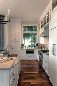 Wood Floor Kitchen by A Bright White Family Friendly Kitchen K I T C H E N Pinterest