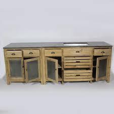 meuble cuisine en pin meuble de cuisine dessus zinc meubles éviers pin