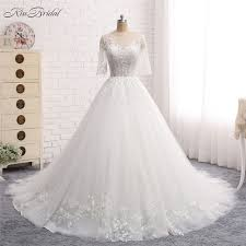 design a wedding dress vestido de noiva longo new design 2018 wedding dress scoop neck