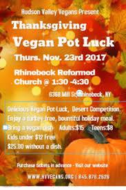 thanksgiving vegan dinner community pot luck and more