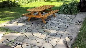 Rock Patio Design Fantastic Building A Flagstone Patio For Your Home Interior Design