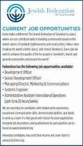 International Marketing Director Job Description Jewish Federation Of Cleveland Jobs Clevelandjewishnews Com