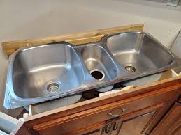 how to make a sink base cabinet diy how to scoop the sides of a sink base to fit a large