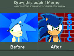 Sonic The Hedgehog Meme - draw this again meme sonic the hedgehog by bagogo on deviantart