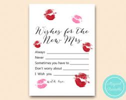 Bridal Shower Wish Wishes For The Bride And Groom Card Bridal Shower Games