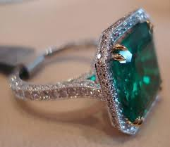 antique emerald rings deep green for deep emotional