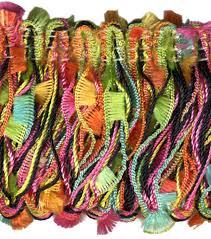 home decor trim waverly 1 75 u0027 u0027 fiesta black feather loop fringe