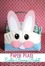 Easter Decorations Using Paper by Homemade Paper Plate Easter Basket Easter Baskets Easter And