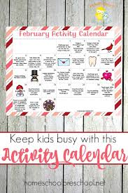 the ultimate february tot and preschool activity calendar