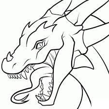 dragon head coloring pages simple dragon drawing drawing pencil