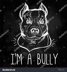 pitbull halloween background vector illustration pit bull terrier bulldog stock vector