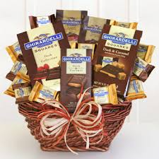 ghirardelli gift basket chocolate gift basket giveaway godiva ghirardelli the report