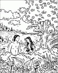 free bible coloring pages of adam and eve coloring home
