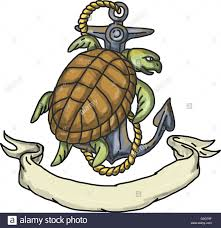 drawing sketch style illustration of a kemp u0027s ridley sea turtle or