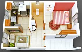 Small 4 Bedroom Floor Plans 50 One U201c1 U201d Bedroom Apartment House Plans Bedroom Apartment