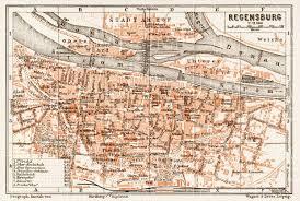 map of leipzig map of regensburg in 1909 buy vintage map replica poster