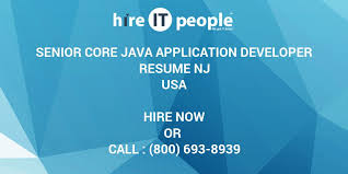 Core Java Developer Resume Sample by Senior Core Java Application Developer Resume Nj Hire It People
