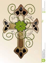 celtic cross tattoo designs tattoo design with irish cross royalty free stock images image