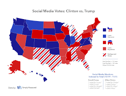 Election Map 2016 by Election Day 2016 The State Of The Race On Social Simply Measured