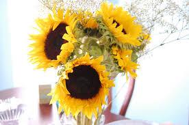 Sunflower Centerpiece Cheap Yellow Wedding Flowers