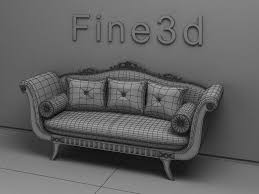 old fashioned sofas 3d old fashioned sofa cgtrader