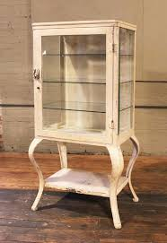 Metal And Wood Cabinet Medical Cabinet Antique Metal And Glass Apothecary Vintage