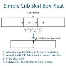Crib Bed Skirt Diy Diy Box Pleat Crib Skirt Crib Skirt Tutorial Crib Skirts And