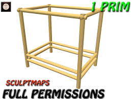 second life marketplace full perm canopy bed frame 1 prim