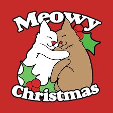 meowy christmas meowy christmas meowy christmas t shirt teepublic