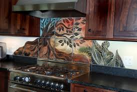 handmade sgraffito carved ceramic backsplash tiles by natalie